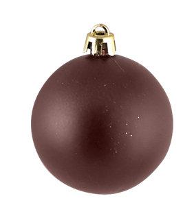 Χριστουγεννιάτικη Γυάλινη Μπάλα Καφέ Ματ  10 εκ