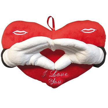 Μαξιλάρι με χέρια που σχηματίζουν καρδιά - 35cm
