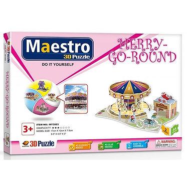 3D ΠΑΖΛ Merry-Go-Round 44ΤΜΧ