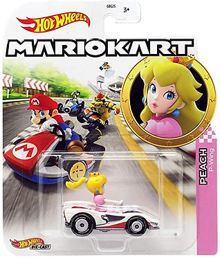 Mattel Hot Wheels: Mario Kart - Peach P-Wing Die-Cast (GJH58)