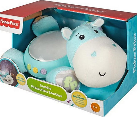 FISHER PRICE - HIPPO PLUSH TOY CUDDLE PROJECTION SOOTHER (CGN86)