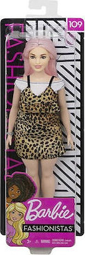 Barbie  Animal φόρεμα με ροζ μαλλιά(Mattel)