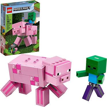 LEGO® Minecraft: BigFig Pig with Baby Zombie