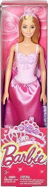 Mattel Barbie - Princess Doll Blonde Doll Pink Dress (GGJ94)