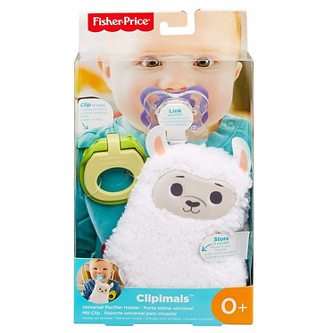 Fisher-Price Clipimals: Universal Pacifier Holder - Llama (GKC47)