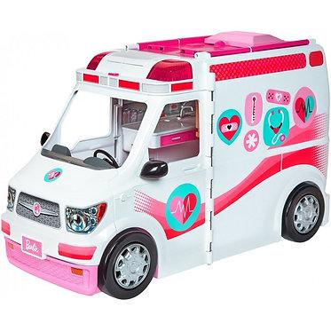 Barbie Όχημα διάσωσης ασθενοφόρου και νοσοκομειακής περίθαλψης  (MatteFRM19)