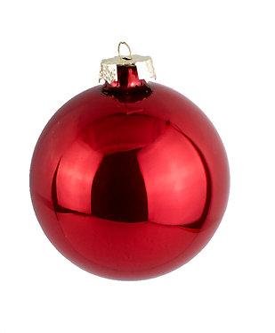 Χριστουγεννιάτικη Γυάλινη Μπάλα Κόκκινη περλέ  8 εκ
