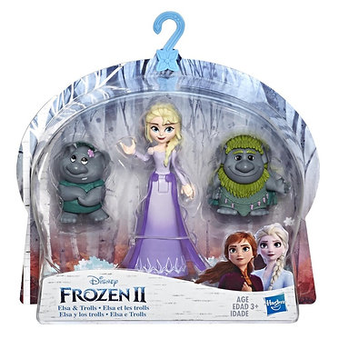 Hasbro Disney Frozen II - Elsa And Trolls Small Dolls (E7078EU40)