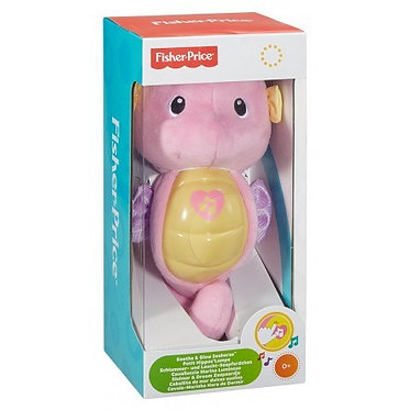 FISHER PRICE - NEW OCEAN WONDERS SOOTHE & GLOW SEAHORSE - PINK (DGH83)