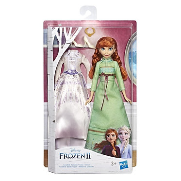 Hasbro Disney Frozen II: Arendelle Fashions - Anna Fashion Doll with Two Outfits