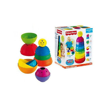 FISHER PRICE - BRILLIANT BASICS STACK & ROLL CUPS (W4472)