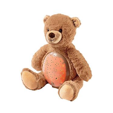 Βρεφικό Λούτρινο Αρκουδάκι Φωτεινός Ονειρούλης Luna Toys. 25x27x19 εκ.