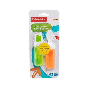 FISHER PRICE - ON-THE-GO FORK AND SPOON SET (Y3507)