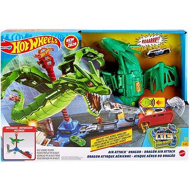 Mattel Hot Wheels: City VS Robo Beasts - Air Attack Dragon (GJL13)