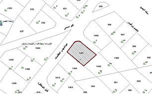 ارض للبيع في منطقة الجويدة حي الباير مساحة 507 م على شارعين وبسعر مناسب