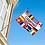 Thumbnail: Camping flernasjonersflagg med 12 nasjoners