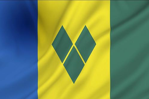 Saint Vincent og Grenadinene flagg