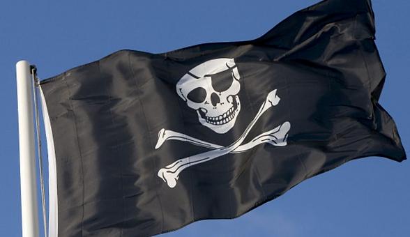Sjørøver, flagg ,benyttet av pirater, pirate, morsessignalenes, piratflagg