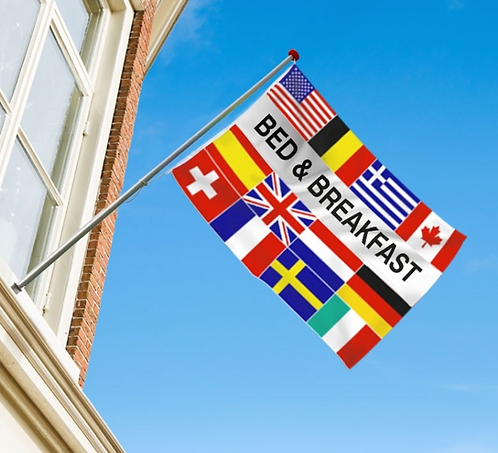 Bed & Breakfast flernasjonersflagg med 12 nasjoners