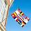 Thumbnail: Hotel flernasjonersflagg med 12 nasjoners