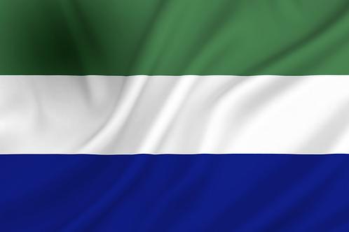 Sierra Leone flagg