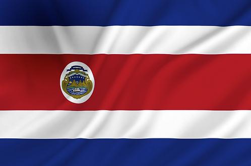 Costa Rica flagg
