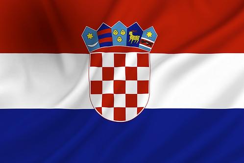 Flagg Kroatia