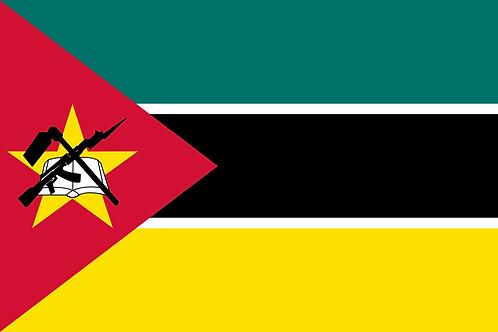 Flagg Mosambik