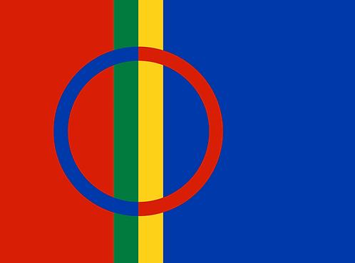 Samisk flagg - flaggbutikk.no