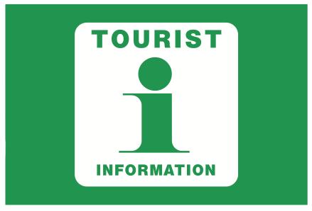 Tourist Information flagg grønn