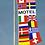 Thumbnail: Motel flernasjonersflagg med 14 nasjoners