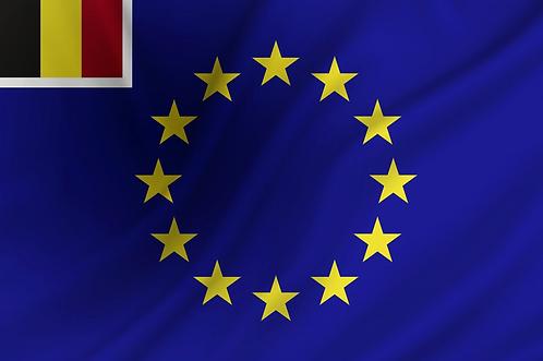 Handelsflagg EU + Belgia
