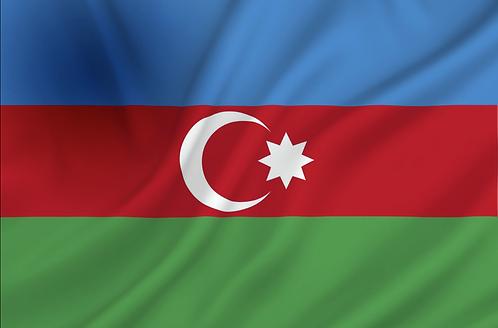 Flagg Aserbajdsjan