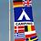 Thumbnail: Camping flernasjonersflagg med 10 nasjoners