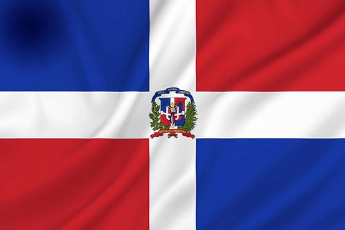 Dominikanske Republikk flagg