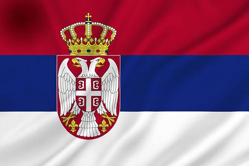 Serbia flagg