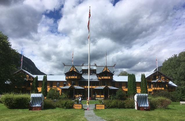 Dalen hotel, norsk vimpel, norsk flagg, norge