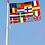 Thumbnail: Flernasjonersflagg med 15 nasjoners + E.U.