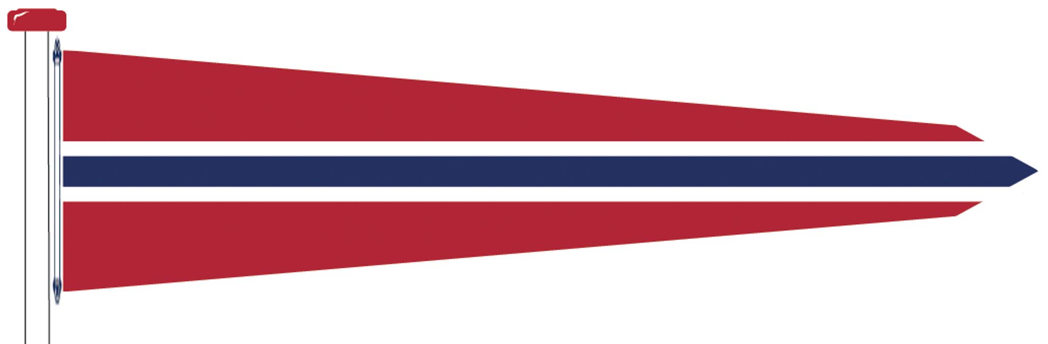 Norsk Vimpel Med Kors