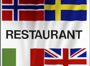 Restaurant høydeflagg