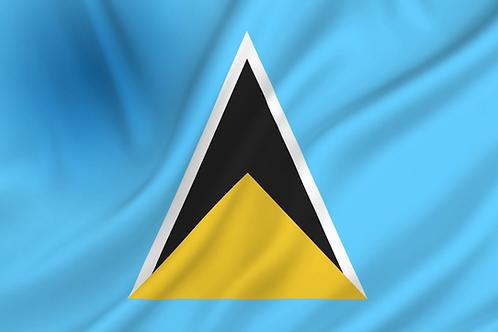 Saint Lucia flagg