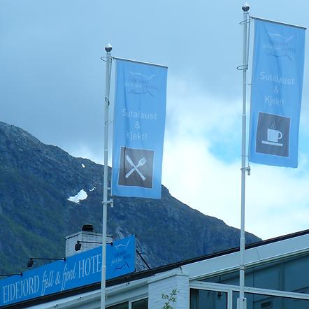 hoykantflagg, flagg, logo flagg, egen flagg, hotel, fjell og fjord