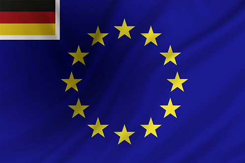 Handelsflagg EU + Tyskland