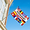 Thumbnail: Restaurant flernasjonersflagg med 12 nasjoners