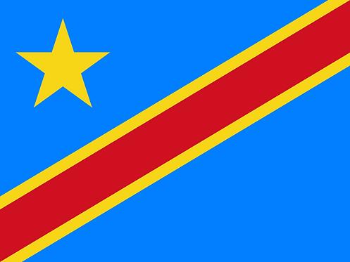 Flagg Kongo Kinshasa