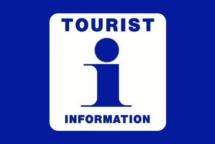 Tourist Information flagg blå