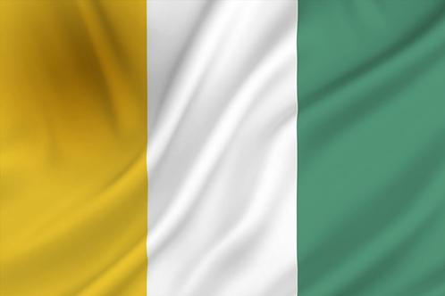 Flagg Elfenbenskysten