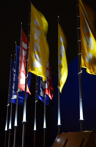 Poleled, flagg, flag, belysning, ikea, hoykant, pole-led