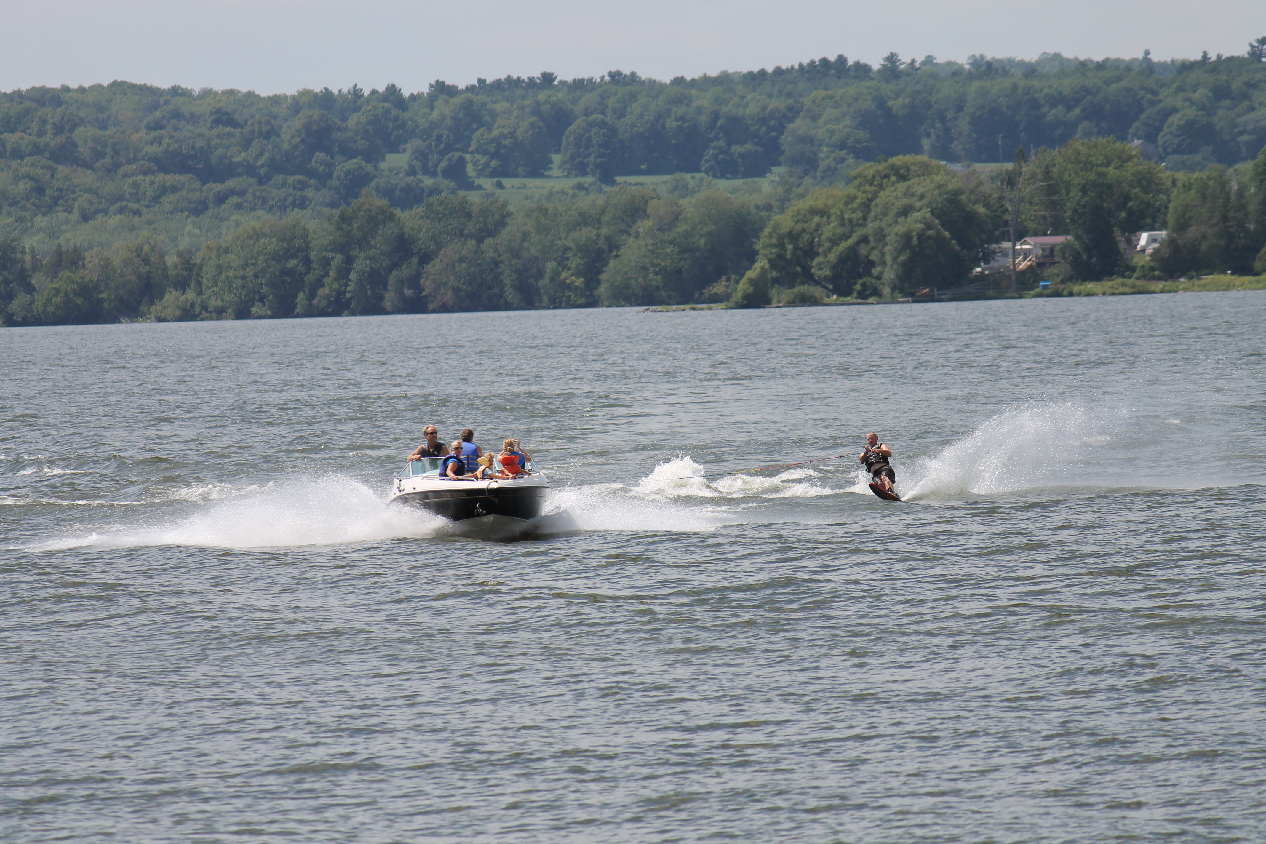 Water skiing on Rice Lake Ontario