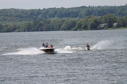 Water skiing on Rice Lake Ontario